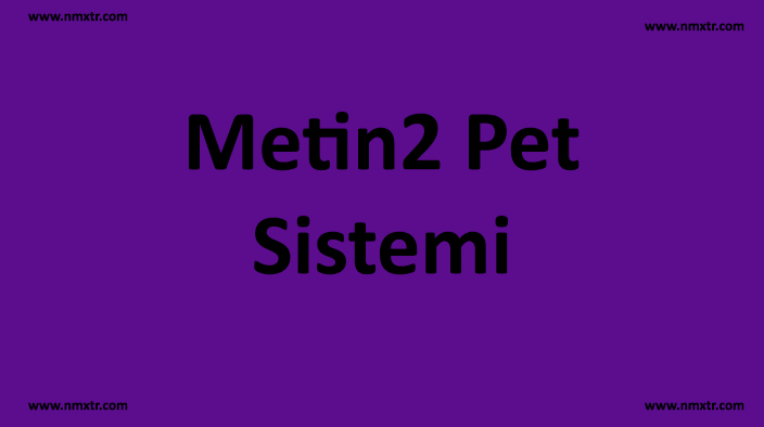 Metin2 Pet Sistemi