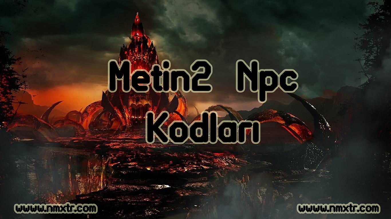 Metin2 Npc Kodları
