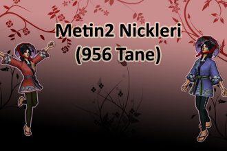 Metin2 Nickleri ( 956 Metin2 karakter isimleri, Metin2 isimler )